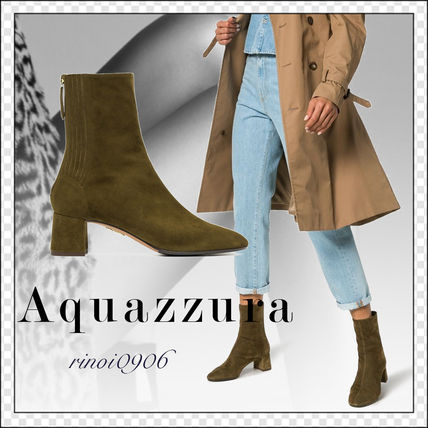 Round Toe Casual Style Suede Plain Ankle & Booties Boots