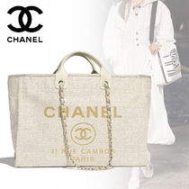 CHANEL Casual Style A4 Plain Totes