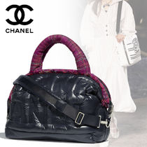 CHANEL A4 2WAY Plain Elegant Style Bags