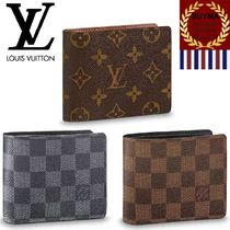 Louis Vuitton DAMIER GRAPHITE Other Check Patterns Monogram Canvas Folding Wallets