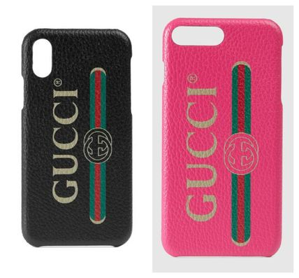 best service 38492 b753c GUCCI 2019 SS Leather Smart Phone Cases (549080 92E00 8161)