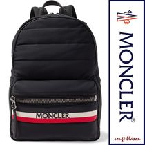 MONCLER Stripes Unisex Street Style A4 Plain Backpacks