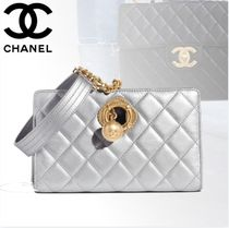 CHANEL Lambskin Plain Clutches