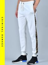 CRIMINAL DAMAGE Leopard Patterns Sweat Street Style Joggers & Sweatpants