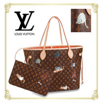 Louis Vuitton MONOGRAM Monogram Other Animal Patterns Leather Totes