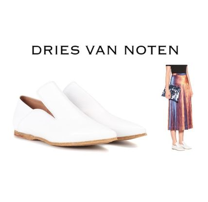 97f1f14398 Wedge Casual Style Unisex Bi-color Plain Leather Slippers. Dries Van Noten