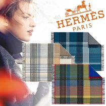 HERMES Stripes Fringes Geometric Patterns Throws
