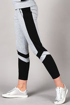 ELLY PISTOL Stripes Casual Style Sweat Sweatpants
