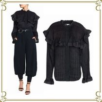 Chloe Medium Elegant Style Puff Sleeves Shirts & Blouses