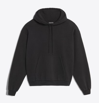 BALENCIAGA Hoodies Blended Fabrics Long Sleeves Cotton Hoodies 2