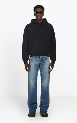 BALENCIAGA Hoodies Blended Fabrics Long Sleeves Cotton Hoodies 4