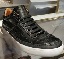 Jimmy Choo Street Style Plain Leather Sneakers