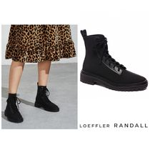 Loeffler Randall Rubber Sole Lace-up Casual Style Plain Lace-up Boots
