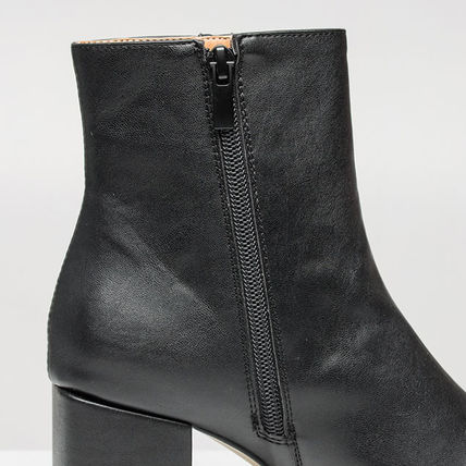 Ankle & Booties Square Toe Casual Style Suede Street Style Plain Block Heels 2