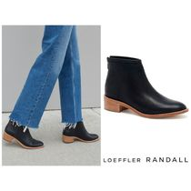 Loeffler Randall Leather Block Heels Ankle & Booties Boots
