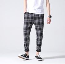 Printed Pants Glen Patterns Other Check Patterns Unisex