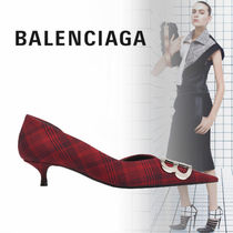 BALENCIAGA Gingham Pointed Toe Shoes