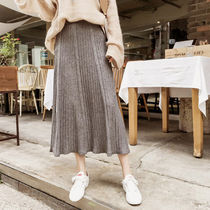 Casual Style Blended Fabrics Long Maxi Skirts