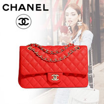 CHANEL Calfskin Blended Fabrics 3WAY Bi-color Chain Plain