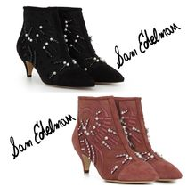 Sam Edelman Open Toe Suede Elegant Style Ankle & Booties Boots