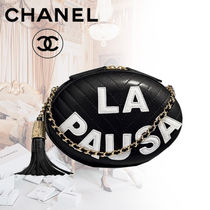 CHANEL Lambskin Blended Fabrics Tassel 3WAY Chain Plain