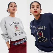 Tommy Hilfiger Crew Neck Long Sleeves Cotton Medium Logos on the Sleeves