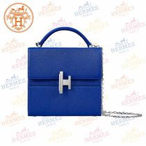 HERMES Blended Fabrics 2WAY Chain Plain Shoulder Bags