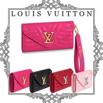 Louis Vuitton Calfskin Plain Long Wallets
