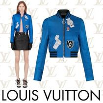 Louis Vuitton Short Stripes Casual Style Street Style Souvenir Jackets