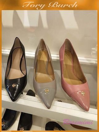 3e6db763212cf ... Tory Burch Pointed Toe Plain Leather Pin Heels Pointed Toe Pumps    Mules ...