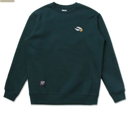 SPAO Sweatshirts Crew Neck Unisex Collaboration Long Sleeves Sweatshirts 7