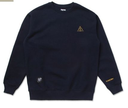 SPAO Sweatshirts Crew Neck Unisex Collaboration Long Sleeves Sweatshirts 9