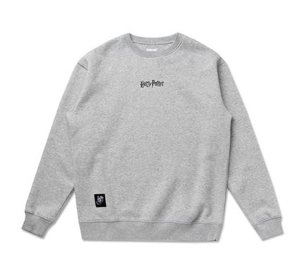 SPAO Sweatshirts Crew Neck Unisex Collaboration Long Sleeves Sweatshirts 12