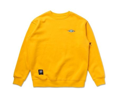 SPAO Sweatshirts Crew Neck Unisex Collaboration Long Sleeves Sweatshirts 16