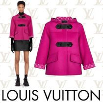 Louis Vuitton Short Monogram Casual Style Wool Bi-color Duffle Coats