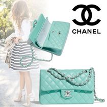 CHANEL Lambskin 2WAY Plain Elegant Style Handbags