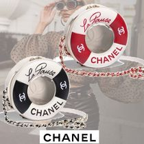CHANEL Casual Style Lambskin Bi-color Chain Crystal Clear Bags