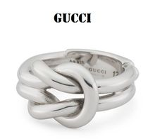 GUCCI Silver Office Style Rings