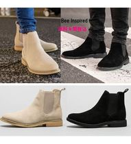 Bee Inspired Clothing Suede Street Style Plain Chelsea Boots Chelsea Boots