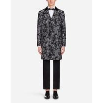 Dolce & Gabbana Flower Patterns Blended Fabrics Long Chester Coats