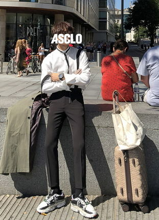 ASCLO Shirts Street Style Collaboration Long Sleeves Plain Shirts 3