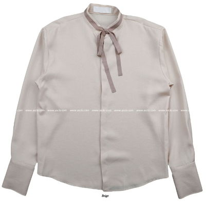 ASCLO Shirts Street Style Collaboration Long Sleeves Plain Shirts 18