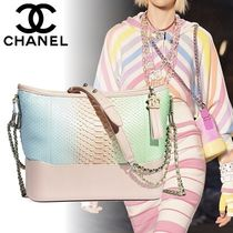 CHANEL Casual Style Chain Leather Python Shoulder Bags