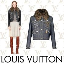 Louis Vuitton MONOGRAM Short Monogram Casual Style Studded Chain Jackets