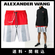 Alexander Wang Stripes Plain Joggers Shorts