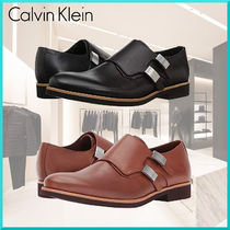 Calvin Klein Plain Toe Monk Plain Leather Loafers & Slip-ons