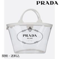 PRADA Casual Style 2WAY Plain Crystal Clear Bags Totes