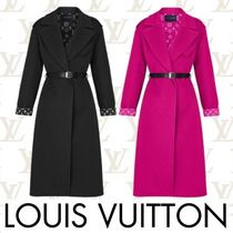 Louis Vuitton MONOGRAM Monogram Cashmere Plain Long Elegant Style Wrap Coats