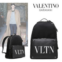 VALENTINO Nylon Plain Backpacks
