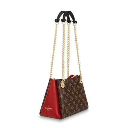 Louis Vuitton Handbags Monogram Leather Elegant Style Handbags 13